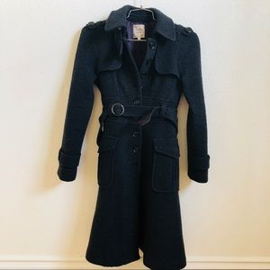 Nanette Lenore black button up trench coat